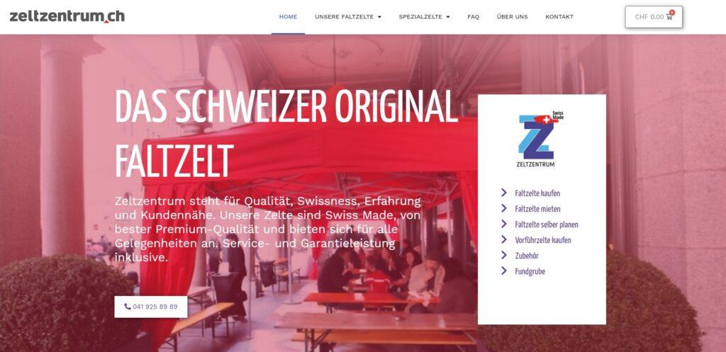 zeltzentrum shop